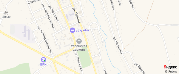 Улица Пивзавод на карте Кяхты с номерами домов