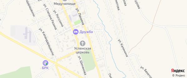 Улица Каландаришвили на карте Кяхты с номерами домов