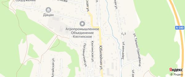 Кяхтинская улица на карте Кяхты с номерами домов