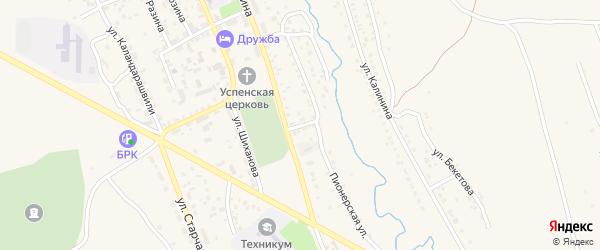 Первомайская улица на карте Кяхты с номерами домов