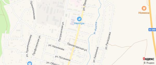 Баргузинская улица на карте Кяхты с номерами домов