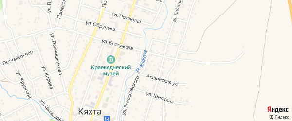 Улица Рокоссовского на карте Кяхты с номерами домов