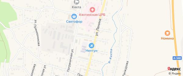 Чикойская улица на карте Кяхты с номерами домов