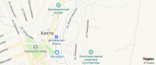 Улица Калинина на карте Кяхты с номерами домов
