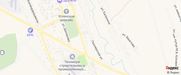 Пионерская улица на карте Кяхты с номерами домов