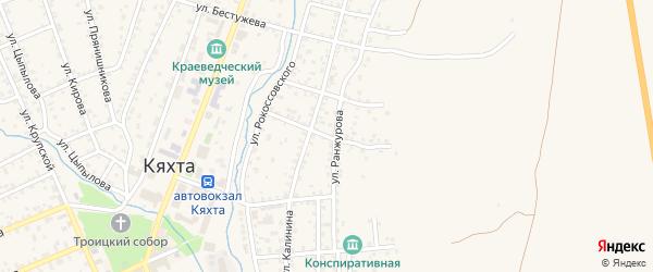 Улица Шилкина на карте Кяхты с номерами домов