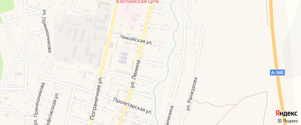 Улица Жданова на карте Кяхты с номерами домов