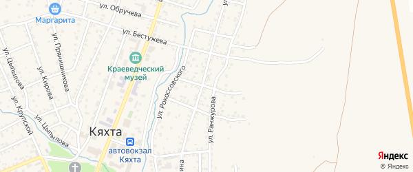 Акшинская улица на карте Кяхты с номерами домов