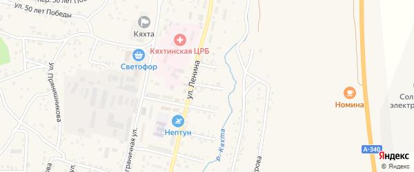 Улица Мотавкиной на карте Кяхты с номерами домов