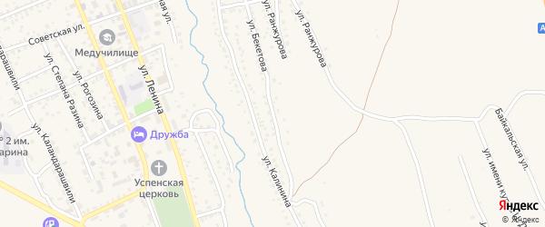 Улица Бекетова на карте Кяхты с номерами домов