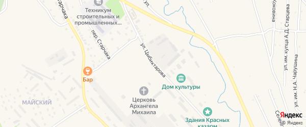 Переулок Цыбиктарова на карте Кяхты с номерами домов