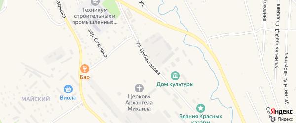 Улица Цыбиктарова на карте Кяхты с номерами домов