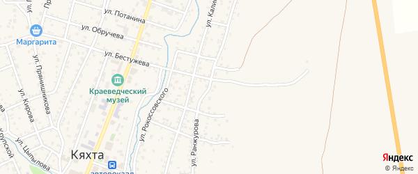 Улица Ранжурова на карте Кяхты с номерами домов