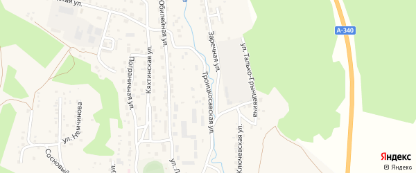 Троицкосавская улица на карте Кяхты с номерами домов
