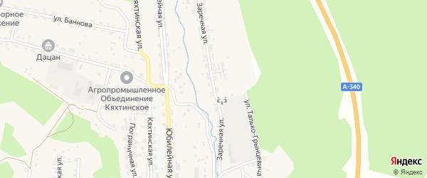 Заречная улица на карте Кяхты с номерами домов