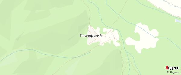 Карта Пионерского поселка города Гусиноозерска в Бурятии с улицами и номерами домов