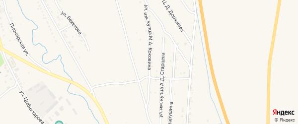 Улица им купца М.А.Коковина на карте Кяхты с номерами домов