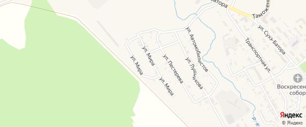 Улица Мира на карте Кяхты с номерами домов