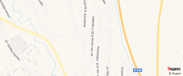 Улица им купца А.Д.Старцева на карте Кяхты с номерами домов