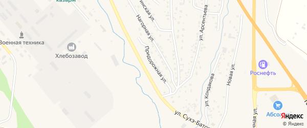 Придорожная улица на карте Кяхты с номерами домов