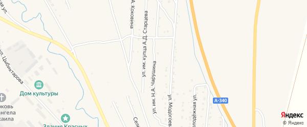 Улица им Н.А.Чарушина на карте Кяхты с номерами домов