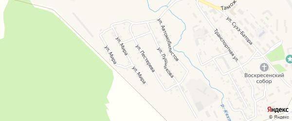 Улица Пестерева на карте Кяхты с номерами домов