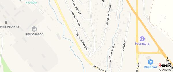 Нагорная улица на карте Кяхты с номерами домов