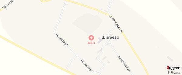Партизанская улица на карте села Шигаево с номерами домов
