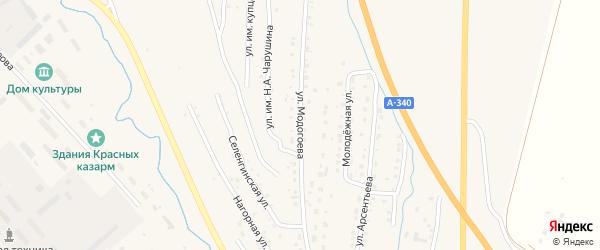 Улица Модогоева на карте Кяхты с номерами домов