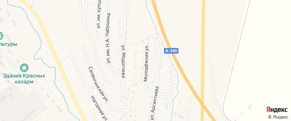 Молодежная улица на карте Кяхты с номерами домов