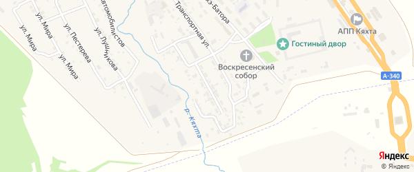 Переулок Рагузинского на карте Кяхты с номерами домов