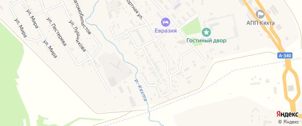 Улица Савы Рагузинского на карте Кяхты с номерами домов