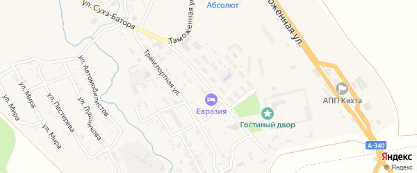 Улица Сухэ-Батора на карте Кяхты с номерами домов