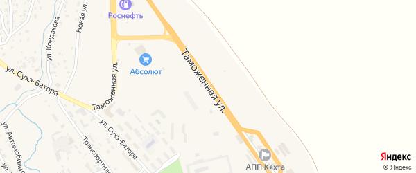 Таможенная улица на карте Кяхты с номерами домов