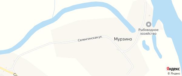 Селенгинская улица на карте села Мурзино с номерами домов