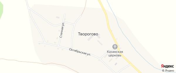 1-й квартал на карте села Творогово с номерами домов