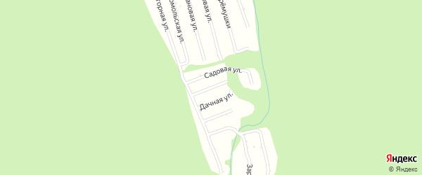 Ягодная улица на карте садового некоммерческого товарищества Черемушки с номерами домов