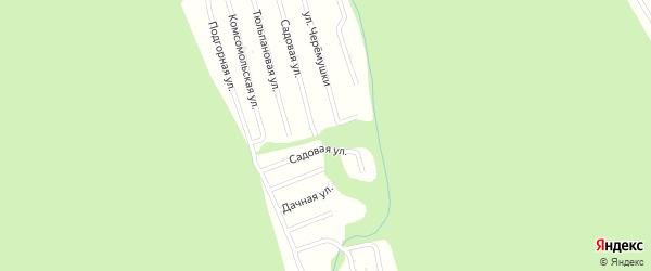 Сосновая улица на карте садового некоммерческого товарищества Цементника с номерами домов