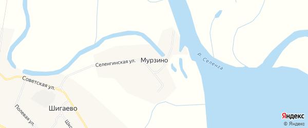 Карта села Мурзино в Бурятии с улицами и номерами домов
