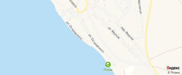 Улица Островского на карте Гусиноозерска с номерами домов