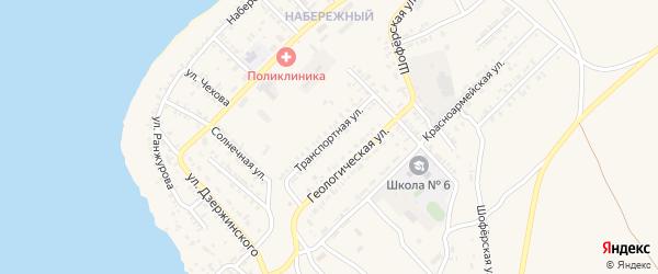 Транспортная улица на карте Гусиноозерска с номерами домов