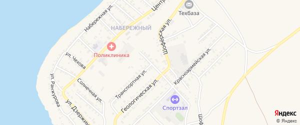 Транспортный переулок на карте Гусиноозерска с номерами домов