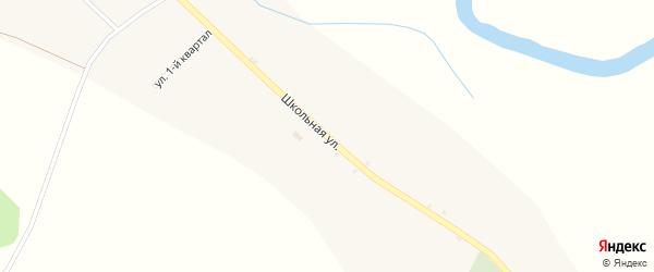 Школьная улица на карте села Творогово с номерами домов
