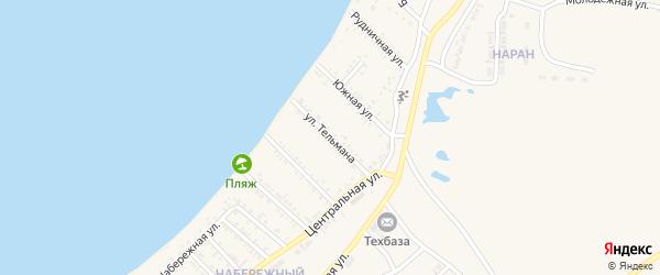 Улица Тельмана на карте Гусиноозерска с номерами домов