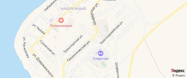 Красноармейский переулок на карте Гусиноозерска с номерами домов