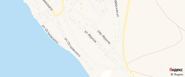 Улица Фрунзе на карте Гусиноозерска с номерами домов