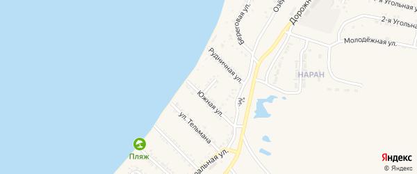 Узкий переулок на карте Гусиноозерска с номерами домов