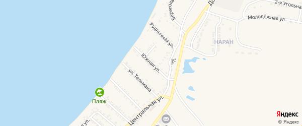 Южная улица на карте Гусиноозерска с номерами домов