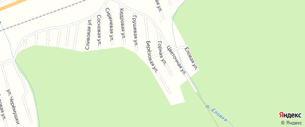 Грушевая улица на карте садового некоммерческого товарищества Цементника с номерами домов