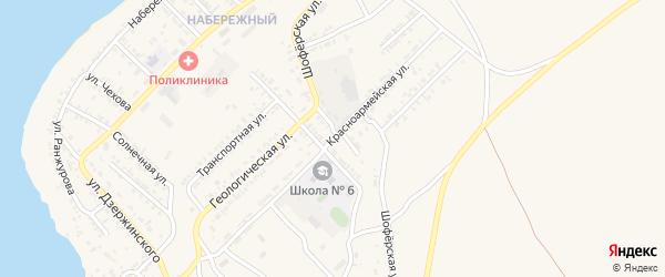 Красноармейская улица на карте Гусиноозерска с номерами домов